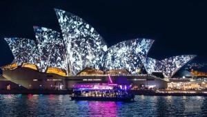 vivid harbour charters sydney